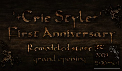 *+Crie Style+* First Anniversary