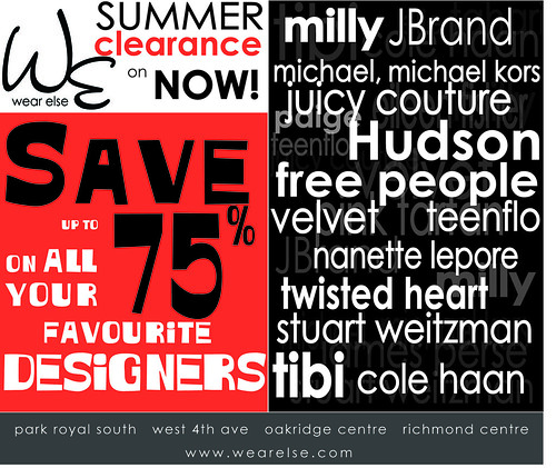 Blog ad for summer clearance