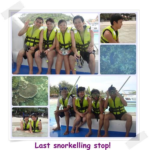 last snorkelling stop