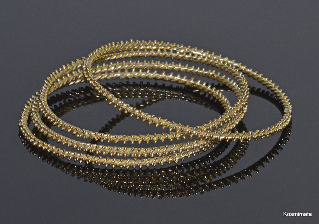 Antioch Gold Granulated Bangles