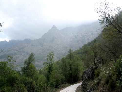 Pinzu Scaffone: vu depuis la vallée de la Cavicchia