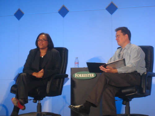 Christina Norman at Forrester Consumer Forum 2007