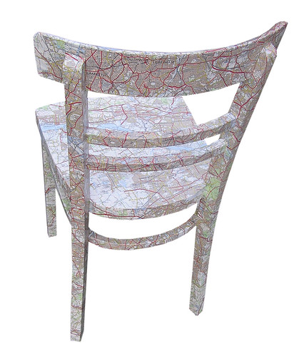 Map chair behind