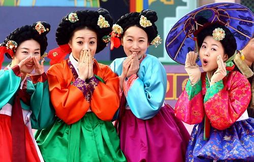 Korean comic dancer