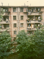 Public housing, Xian, China (Joel Abroad) Tags: china building apartment 1988