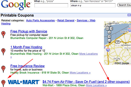 google coupons searchable