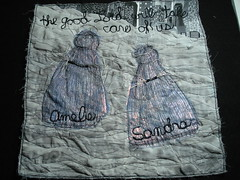 Amelie and Sandra-Katrina Block (bybethstudio) Tags: art memorial quilt fabric kartina teametsytx
