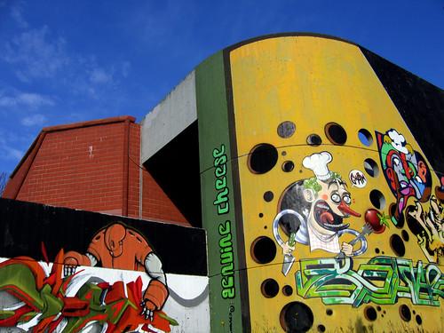 graffiti, rome, italie