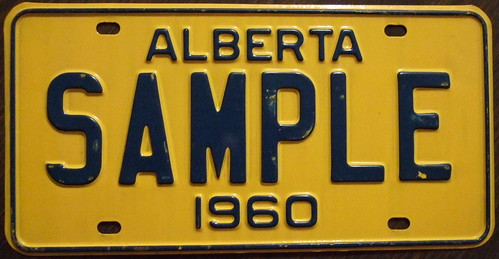 ALBERTA 1960 PROTOTYPE Blue on yellow 1961 colors