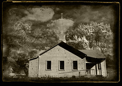 Old Church on the Autumn Trail (crowt59) Tags: old autumn bw white black church sepia texas trail winnsboro blueribbonwinner 123bw collectivedreamjournal proudshopper crowt59 likhangsining