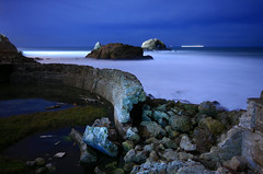 The Walls Came Tumbling Down (After Dark Photo) Tags: ocean sanfrancisco longexposure nightphotography blue landscape ruins sutrobaths