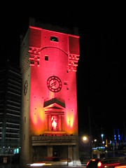 La torretta di Savona illuminata per Natale