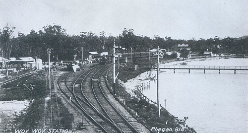 Woy Woy Station, Jack West store, Bayview Hotel prior to 1910