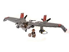 Flying Wing (Legohaulic) Tags: lost flying nazi wing ark indianajones raiders