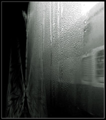 The Journey (Midhun Manmadhan) Tags: life blackandwhite bw window train coach rail aisle journey dew indianrailways canonpowershots3is