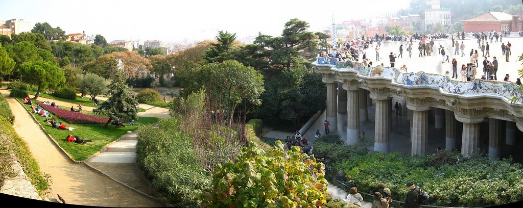 Parc Guell - The Terrace and Below