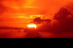 Evening Boatride (part 1) (Trondelarius) Tags: sunset sea sun macro sol norway clouds march boat norge nikon skies horizon sigma apo 300mm 70300mm sola bt solnedgang helios rogaland d300 horisont solastranden nordsjen