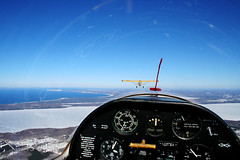 Towing out over Crystal (anttler) Tags: bear mi michigan scout frankfort bellanca blanik sleeing
