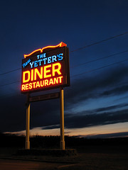Yetters Diner (magarell) Tags: sign night nj diner sussexcounty route206 yettersdiner rosscorner