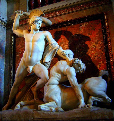 Kunsthistorisches Museum,Theseus Slaying a Centaur, Antonio Canova ...
