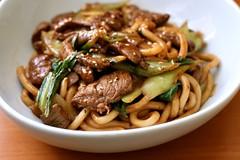 Yaki udon with beef