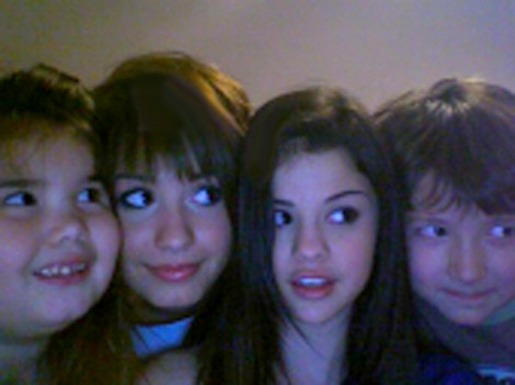 Demi Lovato, Selena Gomez, and Madison Lovato; ← Oldest photo