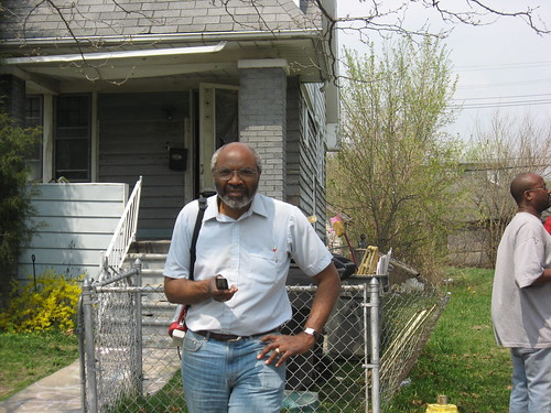 Abayomi Azikiwe, Pan-African News Wire editor, covers a home defense on the city's west side. A campaign is unfolding to win a moratorium on all foreclosures and evictions in Michigan. (Photo: Alan Pollock). by Pan-African News Wire File Photos