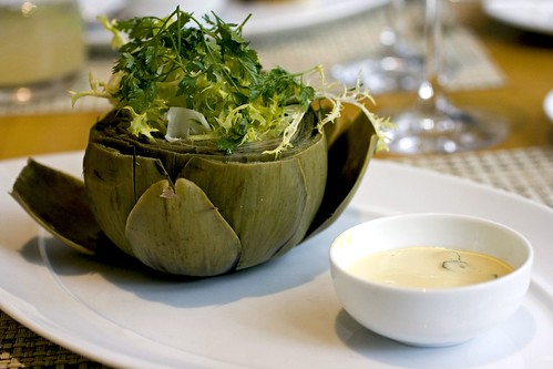 Chilled Artichoke, mustard mayonnaise, chervil and lemon