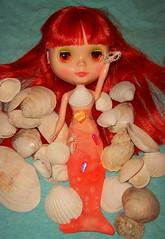 Frejya Molly as a Selkie (Bebopgirl1969) Tags: blue orange toy doll shell redhead blythe mm mermaid selkie modmolly