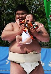 Crying Sumo Festival (vyxle) Tags: baby festival japan sensoji japanese tokyo crazy scary tears babies fat c crying sumo scared asakusa wacky wah ahmunnaeatchoo nakizumo