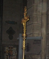Cross at Notre Dame cathedral