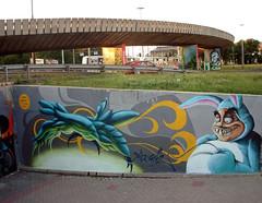 Graffiti Non Stop_2006 (mrzero) Tags: streetart bunny art animal wall effects graffiti 3d mural paint character poland spray human colored graff wroclaw cfs mrzero graffitinonstop
