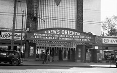 Loew's Oriental Theatre, Brooklyn, NY - 1930 (Brad Smith) Tags: newyork chevrolet brooklyn marquee 1930s streetscene movies oriental loews vaudeville moviehouse talkies williamhaines theaterfacade mariedressler bartomann buddydoyle girlsaidno rayshannon loewsorientaltheatre