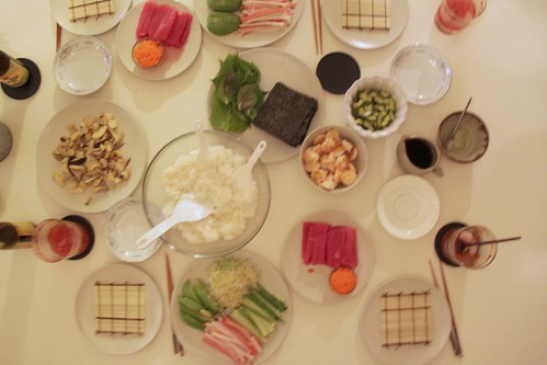sushi at home: the set up