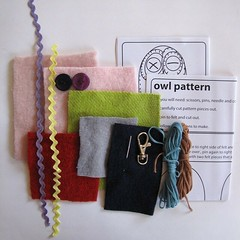 "owl bag-tag - kit contents • <a style=""font-size:0.8em;"" href=""https://www.flickr.com/photos/62749367@N06/5712024444/"" target=""_blank"">View on Flickr</a>"
