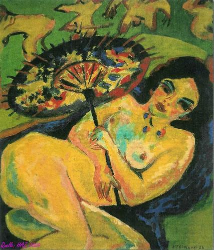 Ernst Ludwig Kirchner 'Mädchen unterm Japanschirm' by pittigliani2005