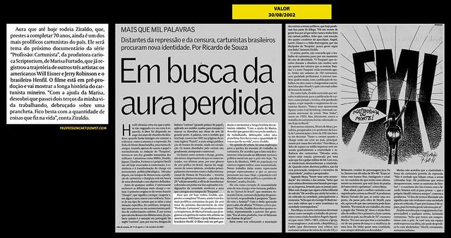"""""""Em busca da aura perdida"""" - Valor - 30/08/2002"""