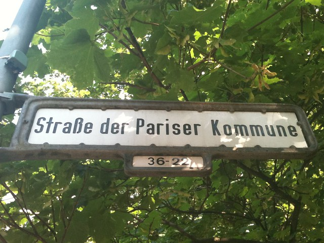 the paris commune street, berlin