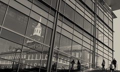 (fusion-of-horizons) Tags: ohio reflection glass architecture canon campus de photography is photo university fotografie photos cincinnati powershot uc s3 universitypavilion arhitectura mcmickenhall anawesomeshot arhitectur