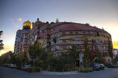 Waldspirale HDR (WrldVoyagr) Tags: house building architecture germany deutschland darmstadt hdr hundertwasser hundertwasserhaus waldspirale 3xp photomatix tonemapped tonemapping