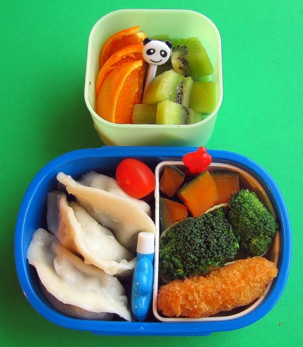 Dumpling lunch for preschooler