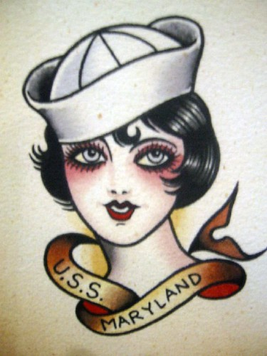 Vintage Tattoo Flash Art 21 Bonnie Burton