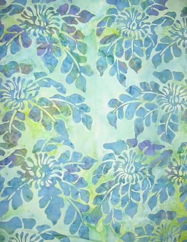 blue-green batik