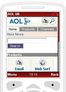 AOL Mobile Screenshot