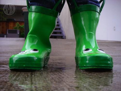 rain boots IN THE RAIN