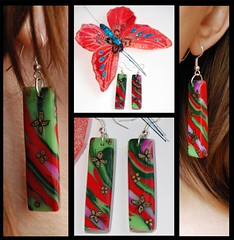 Butterflies (l_a_n_d_l) Tags: beads handmade earrings bijouterie polimerclay