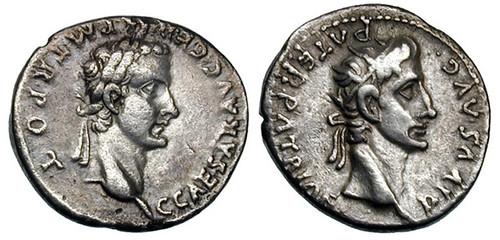 774 Caligula Denarius with Emperor Augustus