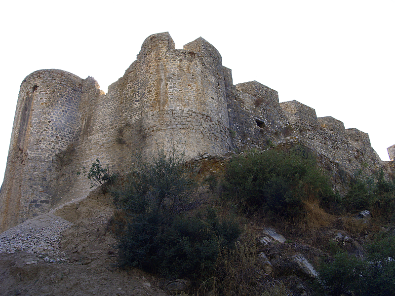 Nafpaktos castle walls from the N.