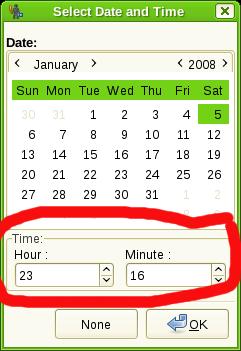 New Time widget