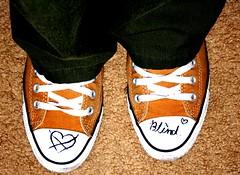 (Aurora Tigress) Tags: shoes hole heart blind footwear converse sharpie